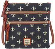 Dooney & Bourke NFL Saints Triple Zip Crossbody - A303542