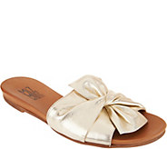 Miz Mooz Leather Knot Detail Slide Sandals - Angelina - A304342