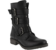 Azura by Spring Step Leather Moto Boots - Gabi - A360242