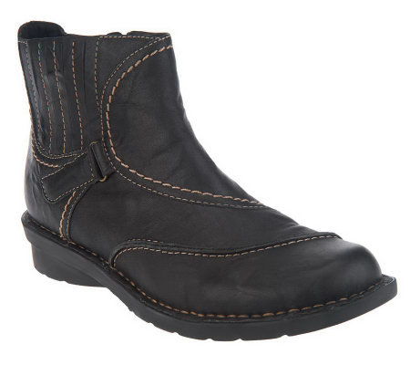 clarks bendables majestic leather ankle boots