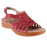 BareTraps Leather Woven Sandals w/ Adj. Back Strap - Jabber - A231643