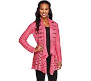 Liz Claiborne New York Crochet Cardigan Sweater - A235543