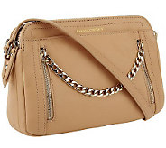 B.Makowsky Adele Glove Leather Crossbody Bag w/ Chain - A238943
