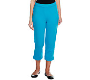 As Is Joan Rivers Petite Ponte Knit Pull-on Crop Pants - A260243