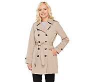 Liz Claiborne New York Double Breasted Trench Coat - A262943