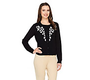 Bob Mackies Art Deco Vine Button Front Cardigan - A263343