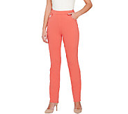 Quacker Factory DreamJeannes Slim Leg Pants - A263943
