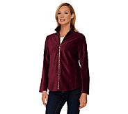 Susan Graver Weekend Knit Corduroy Zip Front Jacket - A269243