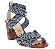 As Is Sole Society Stretch Block Heel Sandals - Joesy - A271543