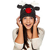 Aeropostale Rudolph Sweater Knit Holiday Hat - A273943