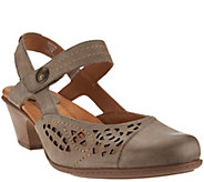 Earth Leather Perforated Sandals with Backstrap - Bantam - A274243