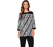 Bob Mackies Printed Knit Top - A279243