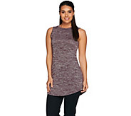 LOGO Layers by Lori Goldstein Sweater Knit Tank with Curved Hem - A279443