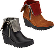 FLY London Leather or Suede Foldover Boots -Yex - A283643