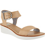 ED Ellen DeGeneres Leather Wedge Sandals - Stella - A291043
