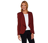 As Is GK George Kotsiopoulos Drape Front Blazer w/Zipper - A291443