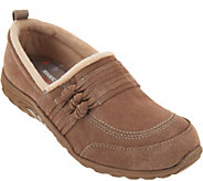 As Is Skechers Suede Knotted Slip-on Shoes - Reggae Fest Loungy - A293543