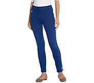 Quacker Factory DreamJeannes Pull-On Ankle Pants with Sequins - A303243