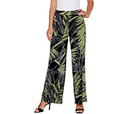 Susan Graver Printed Liquid Knit Pull-On Pants - A303343