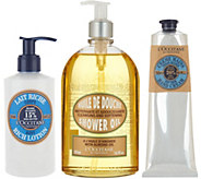 LOccitane Almond Shower Gel Shea Hand Cream & Body Lotion - A310543