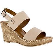 Bella Vita Leather Wedge Sandals - Cor-Italy - A363443
