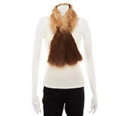 Dennis Basso Ombre Faux Fox Fur Pull Through Scarf - A229744