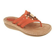 Clarks Artisan Leather Thong Sandals - Amaya Yarrow - A230244