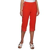 Quacker Factory DreamJeannes Convertible Capris with Rhinestones - A231344