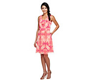 Isaac Mizrahi Live! Sleeveless Tie Dye Printed Dress - A255044