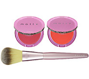Mally All Over Color SkinBrightening Blush Duo with Brush - A255144