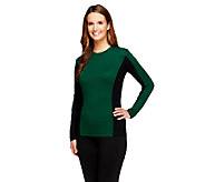 G.I.L.I. Long Sleeve Color-Block Sweater with Rib Detail - A256244