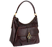 Dooney & Bourke Santorini Lizard Embossed Leather Hobo - A258244