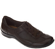 Earth Origins Leather Gored Lace Slip-On Shoes - Jennings - A258944