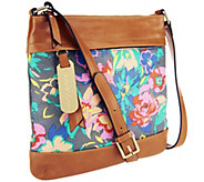 As Is Emma and Sophia Floral Printed Canvas Georgia Crossbody - A260044
