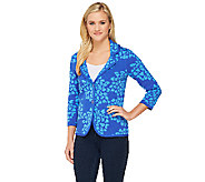 Isaac Mizrahi Live! Floral Jacquard Sweater Blazer - A262844