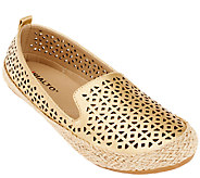 Rialto Perforated Flats w/ Espadrille Detail - Sonia - A263644