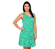 Isaac Mizrahi Live! Sleeveless Lace Dress - A263844