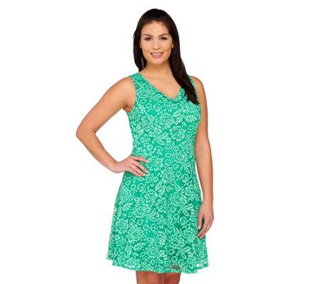 Isaac Mizrahi Live Sleeveless Lace Dress   A263844 —