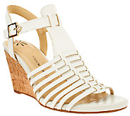 Isaac Mizrahi Live! Fisherman Open Toe Wedge Sandals - A264244