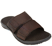 Vionic with Orthaheel Mens Orthotic Leather Slide Sandals - Jon - A266244