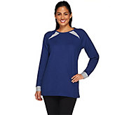 Denim & Co. Active French Terry Tunic with Reverse Terry - A266844