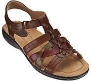 Earth Origins Leather Multi-strap Sandals - Katrina - A274244