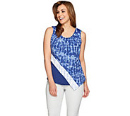 H by Halston Mixed Print Sleeveless Top - A274544