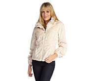 As Is Luxe Rachel Zoe Faux Persian Fur and Faux Chinchilla Trim Jacket - A283344