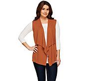 As Is LOGO by Lori Goldstein Cascade Open Front Sweater Vest - A283444