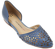 As Is Isaac Mizrahi Live! Perforated Leather DOrsay Flats - A283544