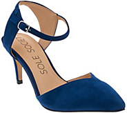 As Is Sole Society Suede Ankle Strap Pumps - Laurent - A283744