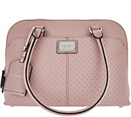 As Is Tignanello Pebble Leather Woven RFID Domed Satchel - A284644