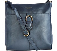 As Is Tignanello Pebble Leather RFID Crossbody w/Buckle Detail - A288944