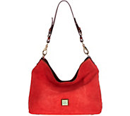 As Is Dooney & Bourke Suede Shoulder Bag - Courtney - A289444